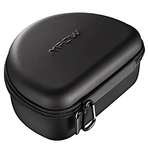 Mpow Headphone Case for Mpow 059/ Mpow H1/H2/H5/Thor and More Foldable Headphones of Other Brands, Storage Bag Travel Carrying Case for Headphones Foldable, Over-Ear/ On-Ear