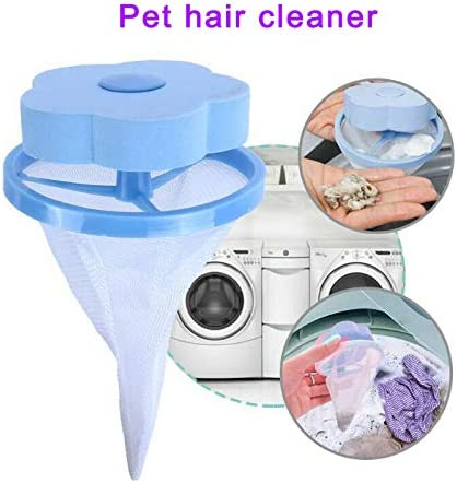 Finetoknow Floating Pet Fur Catcher Reusable Hair Remover Tool for Washing Machine