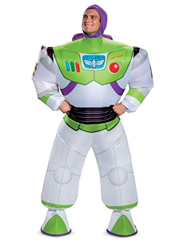 Disguise Men's Disney Buzz Lightyear Inflatable Toy Story 4 Adult Costume, White, One Size