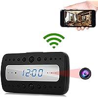 PANNOVO WIFI Camera Alarm Clock HD 1080P Wireless Security Camera with Night Vision