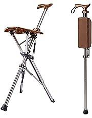 Opklapbare stoelstok, opvouwbare krukstoel, aluminium wandelstok en stoel met 3 poten, reclame voor buitenreizen, antislip lichtgewicht krukkruk