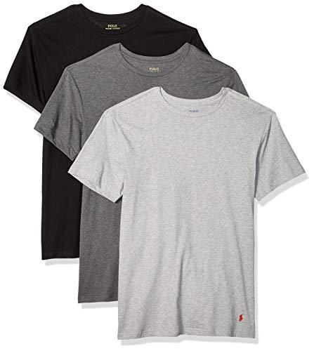 Polo Ralph Lauren Slim Fit 100% Cotton V Neck T-Shirts - 3 Pack (RSVNP3) M/Andover/Madison/Blk