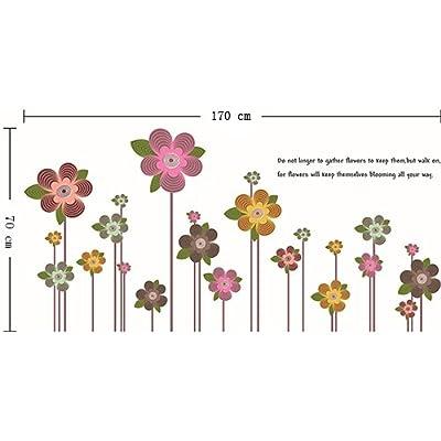 Prettywall Home Decorative Mural Vinyl Wall Sticker Keeping Flowers in Blooming Kids Nursery Wall Art Decal Paper