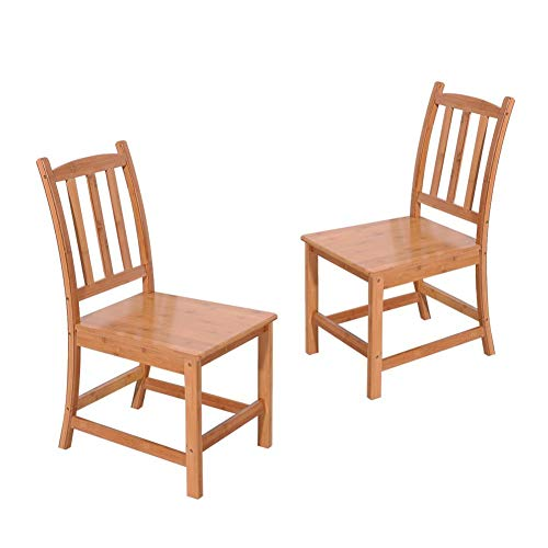 Target Marketing Systems Ian Collection 5 Piece Indoor: Berbeu Bamboo Chair 2pcs Sturdy Dining Chairs