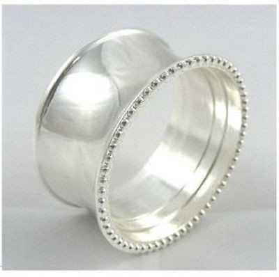 Silver Ring Napkin Ring Set of 4 ServeWell