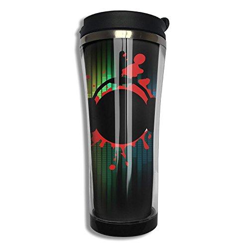 Coffee Cup Vacuum Mug Stainless Steel Beverage Lid Printed With Music Design