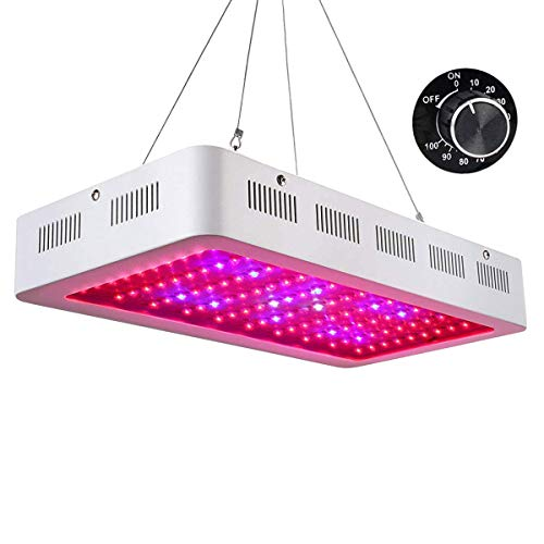 Roleadro Galaxyhydro Dimmable LED Grow Light, 1000W Indoor Plants Grow Lights with UV IR Red Blue Full Spectrum for Veg and Flower