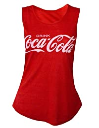 MyMixTrendz - Womens Coca-Cola Drink Slogan Vest Top