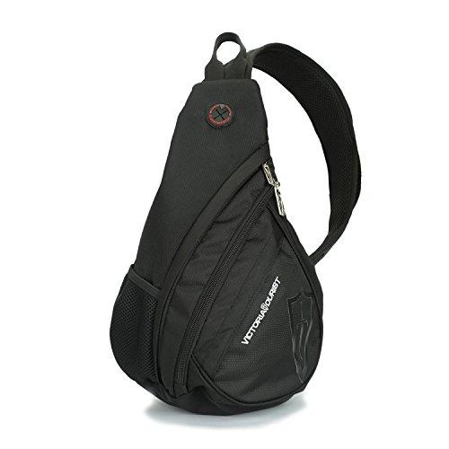 Victoriatourist Shoulder Sling Bag Chest Pack with Adjustable Shoulder Strap, Black (Victorinox Sling)