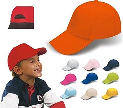 STOCK 20 PEZZI Cappello cappellino berretto bambino bambina in cotone con  visiera rigida  Amazon.it  Casa e cucina 96420dada9c9
