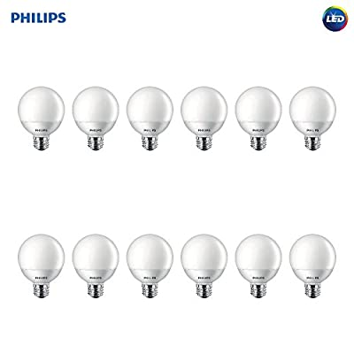 Philips LED Non-Dimmable G25 Frosted Light Bulb: 500-Lumen, 2700-Kelvin, 6.5-Watt (60-Watt Equivalent), E26 Base