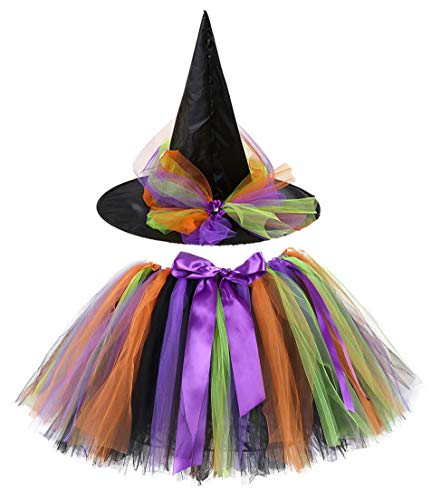 Tutu Dreams Adult Witch Costume Tutu for Women with Witch Hat Sexy Halloween Costume Plus Size Holiday Pageant Role Play (Free Size, ()