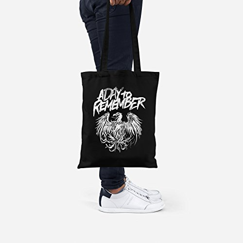 To bag coton LaMAGLIERIA shopping Remember Cabas Bag 100 noir A Day Adt04 Tote 6CC1wqH