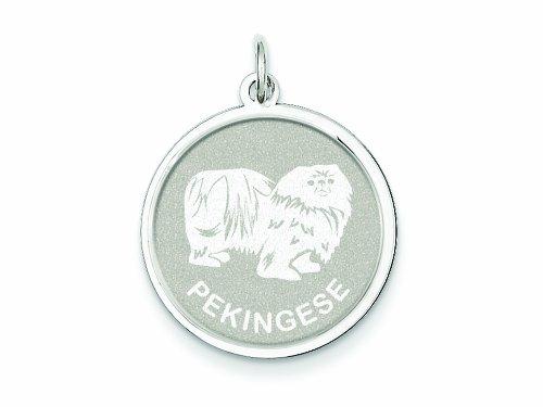 Pekingese Disc Charm (Finejewelers Sterling Silver Pekingese Disc Charm)
