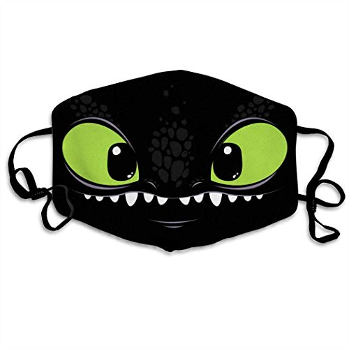 FISSUPER Mouth Mask - Toothless The Dragon Reusable Half Face Dust Outdoor Sport Fashion Anti Pollution Dust Mask Respirator
