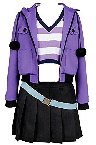 Ya-cos Fate/Grand Order FGO Apocrypha Fa Rider Astolfo Cosplay Costume Casual Suit Coat,Purple,Female Large -