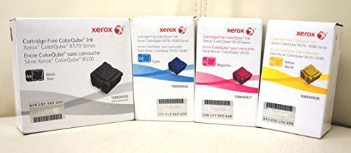 1 Set of Genuine Xerox 108R00926 108R00927 108R00928 108R00930 for Phaser ColorQube 8570 8580 Ink Sticks (10 pack)