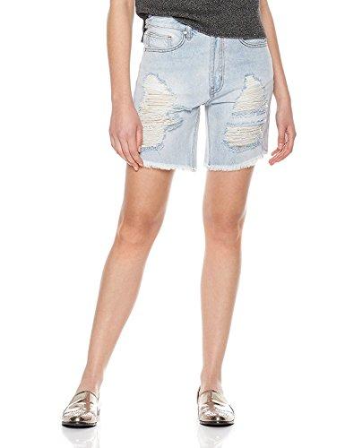 Lily Parker Women's Casual Denim Destroyed Bermuda Short Jeans