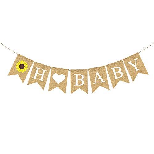 Sunflower Baby Shower - Rainlemon Jute Burlap Sunflower Theme Baby