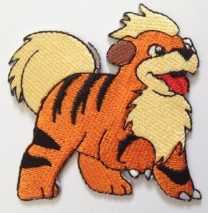 Cosplay Costume Vulpix (Growlithe Embroidered Iron/Sew on Patch - 2.5