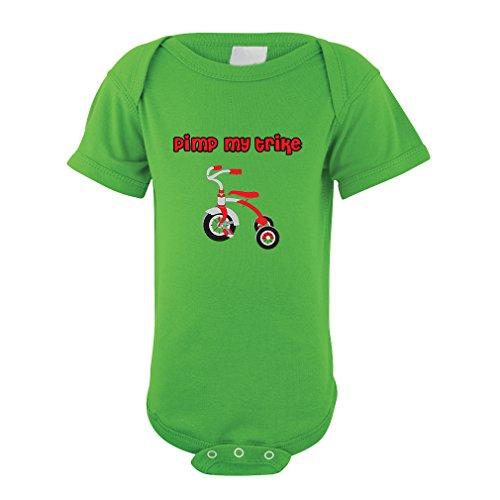 Pimp My Trike Infant Toddler Baby Cotton Bodysuit One Piece Apple Green 12 Months