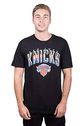 NBA New York Knicks Men's T-Shirt Arched Plexi Short Sleeve Tee Shirt, XX-Large, Black