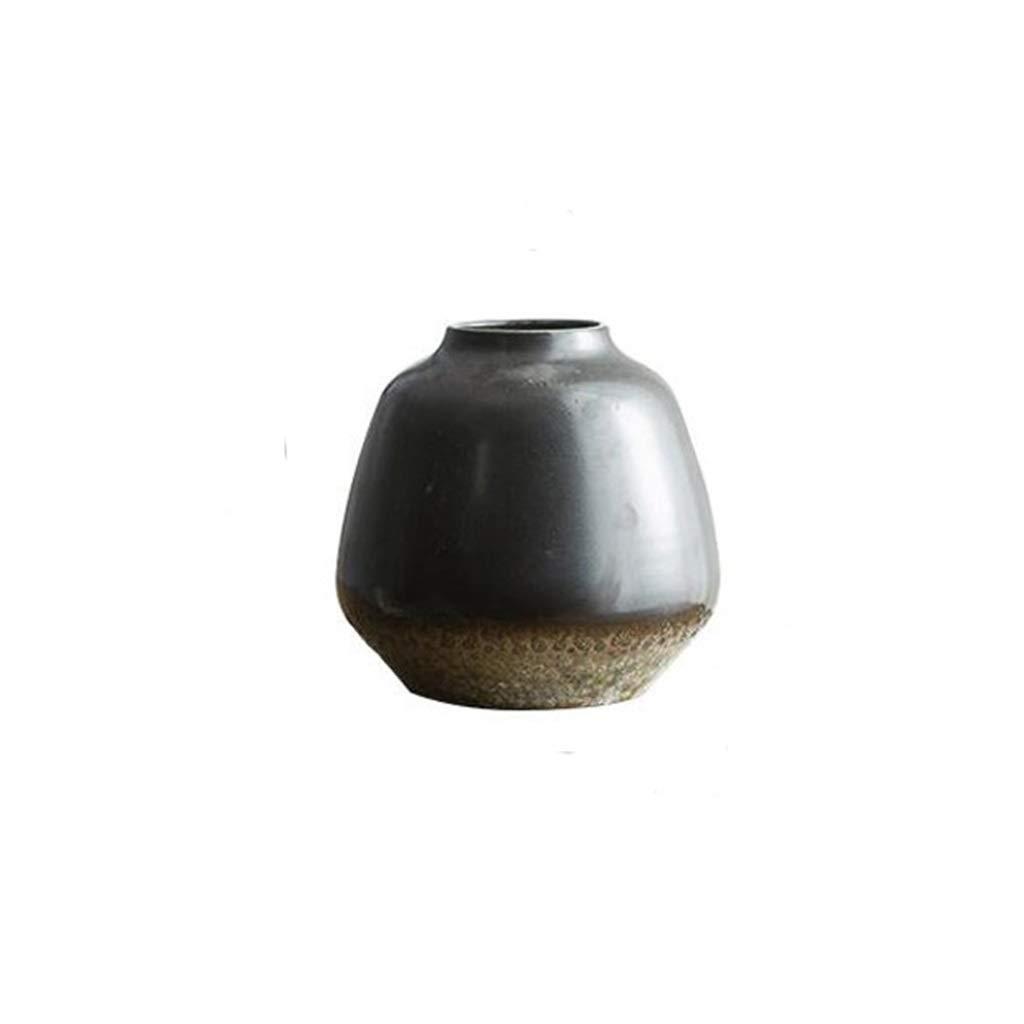 セラミック花瓶装飾リビングルームデスクトップドライフラワー装飾家の花瓶装飾黒 JSFQ (サイズ さいず : 7.5×12.5×20cm) B07QPQTSCV  7.5×12.5×20cm