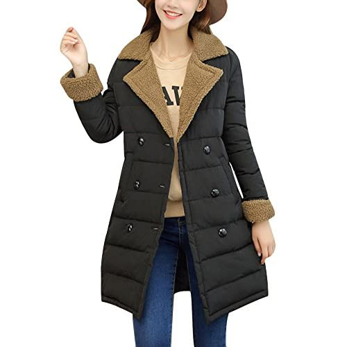 Hot Dreamparis Womens Long Winter Coats Parka Jacket Quilted Wool Outwear Overcoat for sale