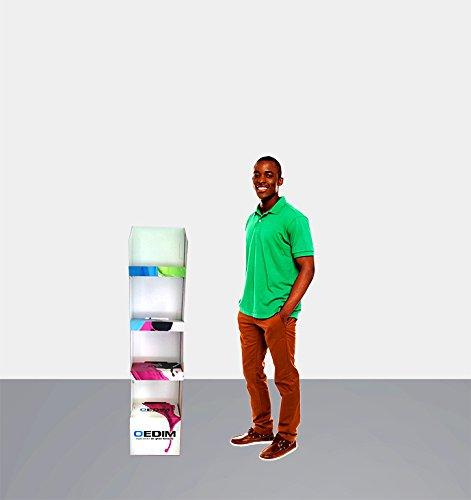Impresi/ón Completa y Personalizada Medidas 0,51 m x 1,267 m |Cart/ón microcanal Doble 2,6 mm Ligero Resistente y recicable Expositor Publicitario X4 100/% Personalizado