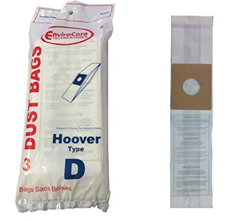 Hoover Dial A Matic Upright Vacuum Cleaner Type D Paper Bags 3 Pk Part # 823SW (Hoover Dial)