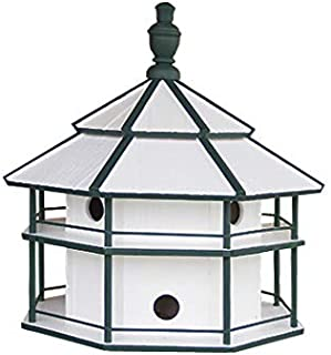 """product image for Saving Shepherd 8 Room Purple Martin Birdhouse - 25"""" Swallow 2 Story Bird Condo House Amish Handcrafted in Lancaster Pennsylvania USA"""