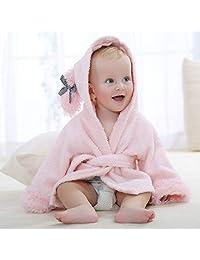Children's Bathrobe with Hood Cotton Towel, Cute Princess Style Baby Bath Towel Cloak