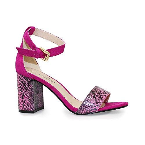 Lunar FLV357 Solange Block Heel Sandal Pink dLOcLJ