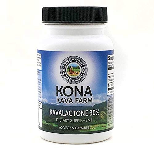 Kona Kava Farms 30% Kavalactone Kava Extract Capsules | All Natural Kava Root Supplement for Relaxation, Steep Support, Stress and Anxiety Relief (60 Capsules) ()