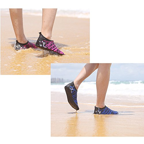 Flyingsky Unisex Quick-Dry Water Shoes Breathable Beach Shoes Diving Shoes Snorkeling Shoes for Water Sport Blue WUtI5dQw