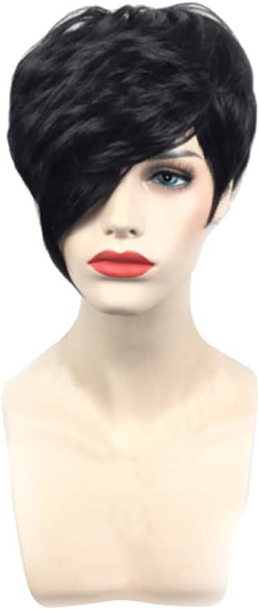 wigs Mode Beau Hommes Garçon Noir court droit sain Cosplay perruque de cheveux
