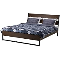 Ikea Queen Size Bed frame, dark brown, Luröy , 2382.22326.48