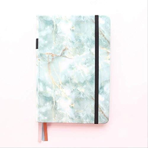 Kreatives Notizbuch mit Marmormuster, Hardcover, gepunktet, für Büro und Schule, A5 lichtgrün