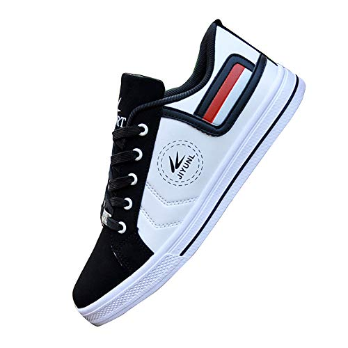 Gaorui Men Fashion Sneakers Casual Shoes Loafers Low Top Outdoor Sport Athletic Running Shoes Driving Loafers Black and - Driving Shoes High Top