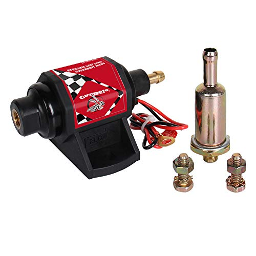 (CarBole Electric Gasoline Fuel Pump Universal 5/16 inch Inlet and Outlet 12V 1-2A 28GPH 2-3.5P.S.I. Operating Fuel Pressure 2-wire Design)
