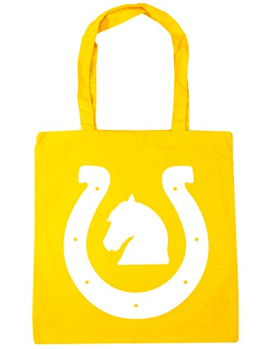 Gym Beach Tote Yellow x38cm Shoe Bag litres 10 Shopping HippoWarehouse Horse 42cm 14I6x6
