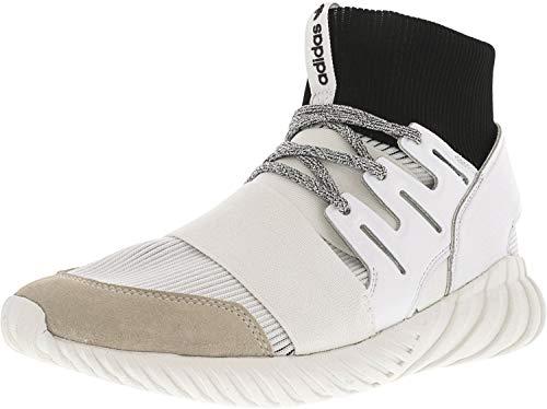 (adidas Men's Tubular Doom Footwear White/Core Black High-Top Fashion Sneaker - 12M)