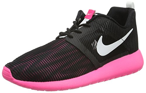 One black Fille Noir Flight Baskets Pink Roshe Hyper Weight Black White Nero GS Pink Hyper NIKE White 1wn50xY