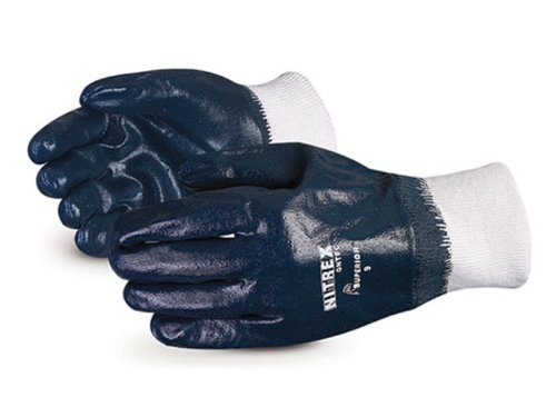 Superior GNTFC Nitrex Medium-Duty Fully Nitrile Coated Glove, Work, Size 10, Green (Pack of 1 Dozen)