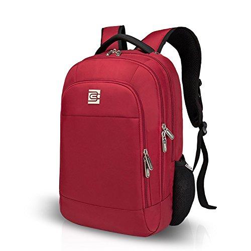 FANDARE Mochila para Ordenador 15.6 Portátil Pulgadas Morral al Aire Libre Viaje Escuela Negocio Las mujeres Mochila Bolso Hombres Excursionismo Multifunción Poliéster Rojo Rojo