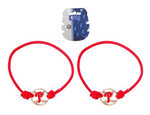 Philadelphia Phillies Stretch Bracelets Set of (2) Hair Ties - -