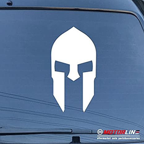 Spartan Mask Sparta Decal Sticker Car Vinyl pick size color Molon Labe