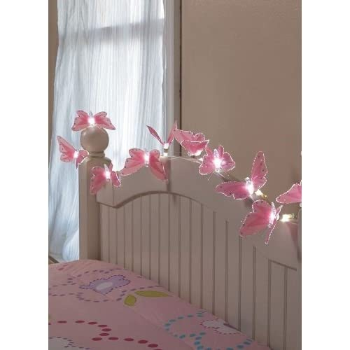 Attirant 10 Battery Butterfly String Lights With Fiber Optic Magic
