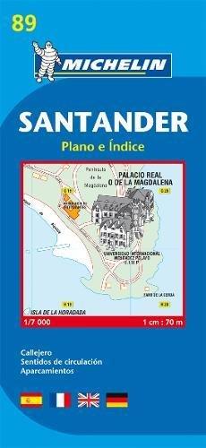 Plano Plegable Santander (Planos Michelin)