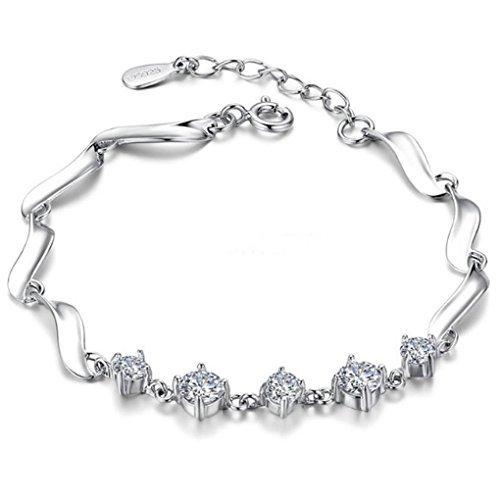 Silver Shoppee Angelic, Genuine Austrian Crystal Studded Sterling Silver Bracelet (SSBR1014) (B01M0R0CJY) Amazon Price History, Amazon Price Tracker